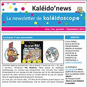 Kaléido'news : la newsletter de Kaléidoscope