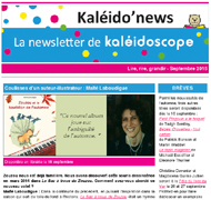 Kaléido'news – septembre 2015