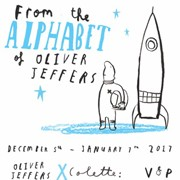 «From the Alphabet of Oliver Jeffers» du 5 décembre au 7 janvier chez Colette