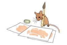 La souris qui voulait peindre