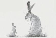 Le lièvre et les lapins