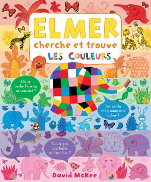 Elmer cherche et trouve, les couleurs